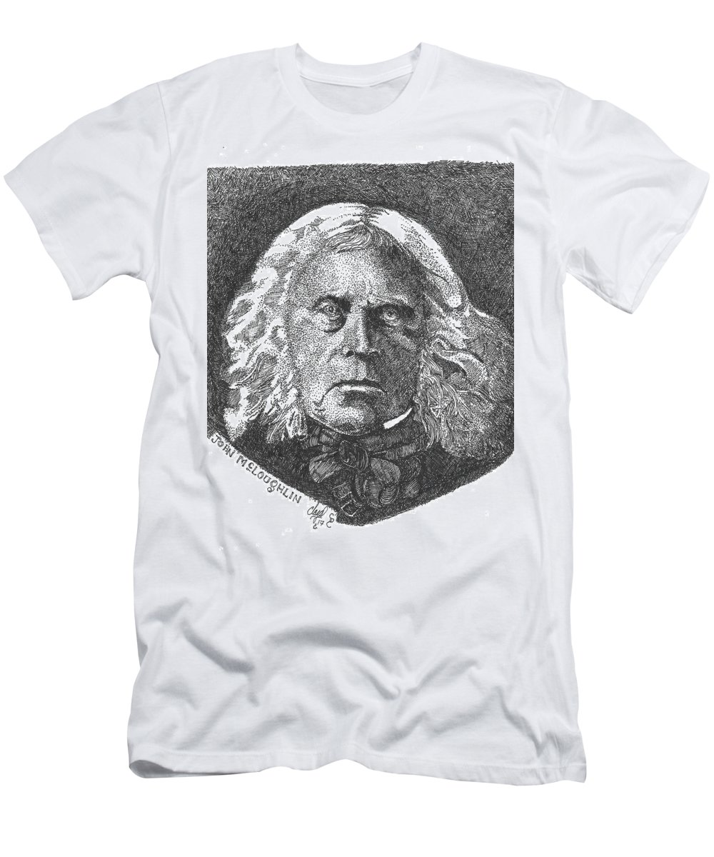 John Mcloughlin Men's T-Shirt (Athletic Fit) featuring the drawing John Mcloughlin by Clayton Cannaday