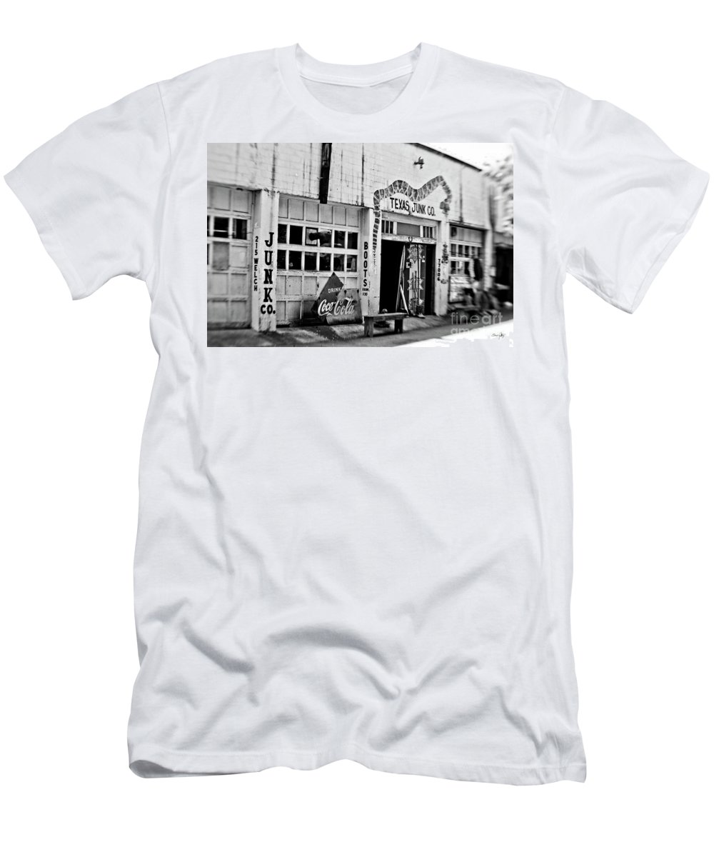 Texas Junk Men's T-Shirt (Athletic Fit) featuring the photograph Junk Company by Scott Pellegrin