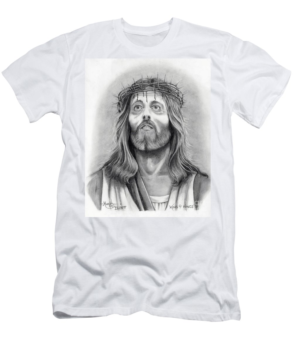 Jesus Christ Men's T-Shirt (Athletic Fit) featuring the drawing King Of Kings by Murphy Elliott