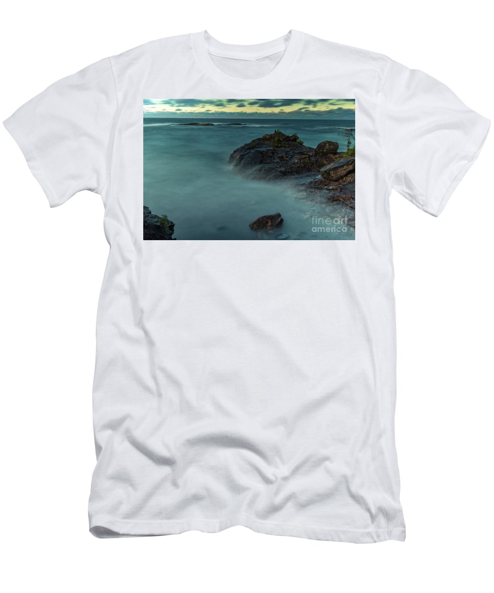 Water Men's T-Shirt (Athletic Fit) featuring the photograph Lake Superior by Upper Peninsula Photography