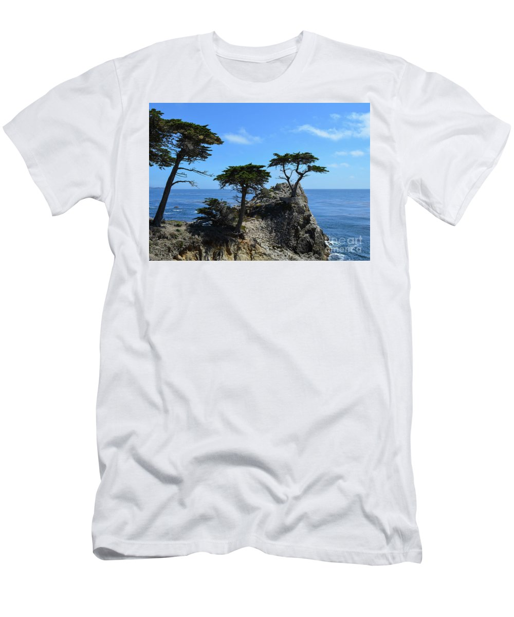 Lone Cypress Men's T-Shirt (Athletic Fit) featuring the photograph Lone Cypress by Brian Stauffer