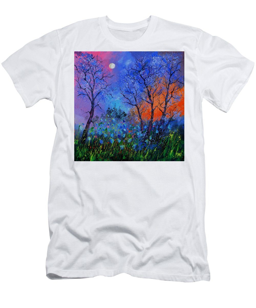 Landscape T-Shirt featuring the painting Magic wood by Pol Ledent