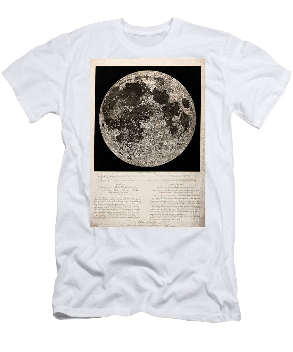 Historic Men's T-Shirt (Athletic Fit) featuring the photograph Moon Surface By John Russell by Wellcome Images
