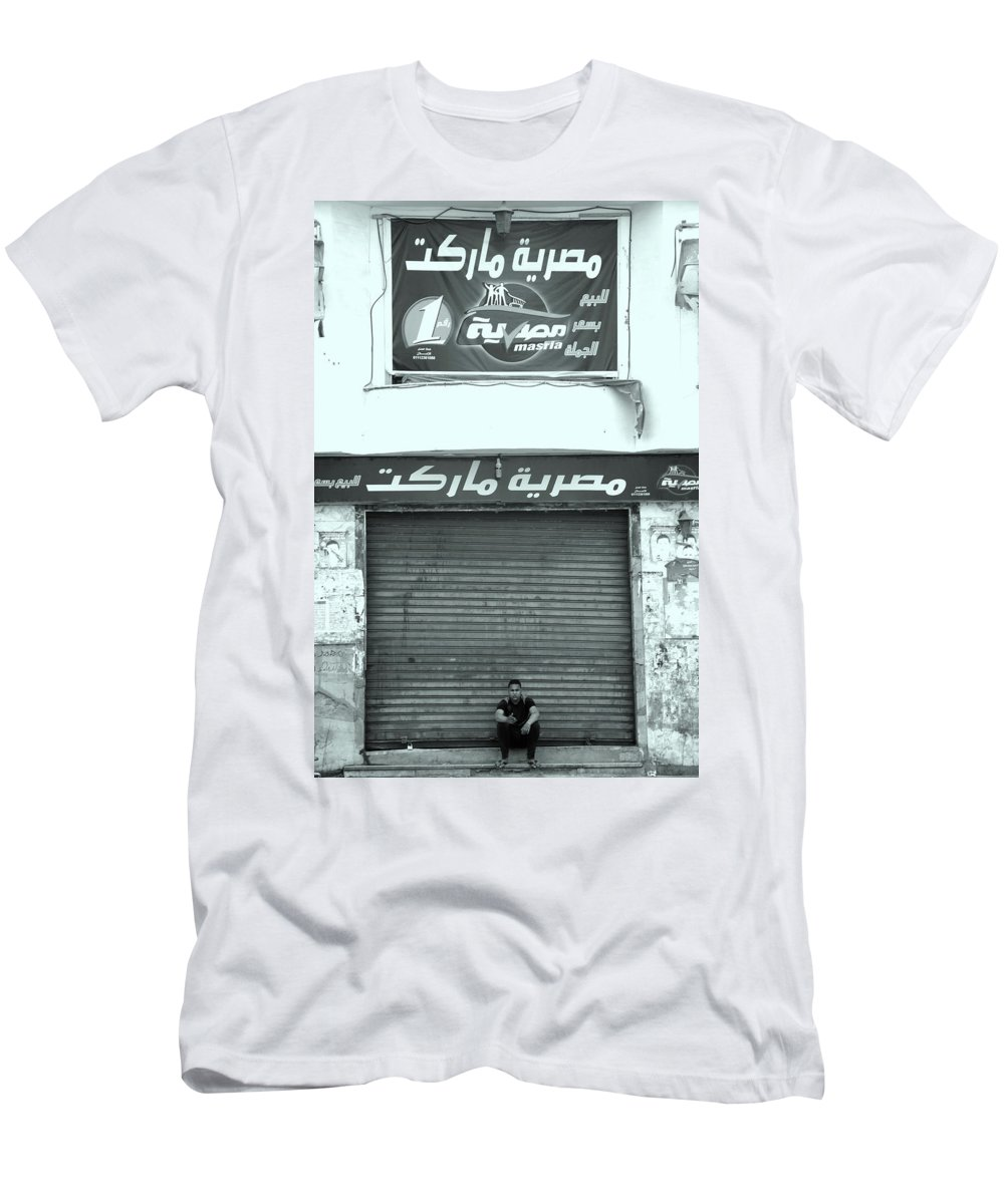 Jezcself Men's T-Shirt (Athletic Fit) featuring the photograph Open Up by Jez C Self