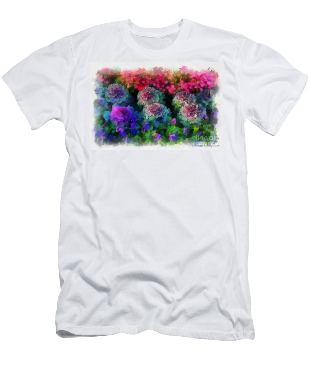 Flower Men's T-Shirt (Athletic Fit) featuring the painting Signs Of Spring by Paulette B Wright