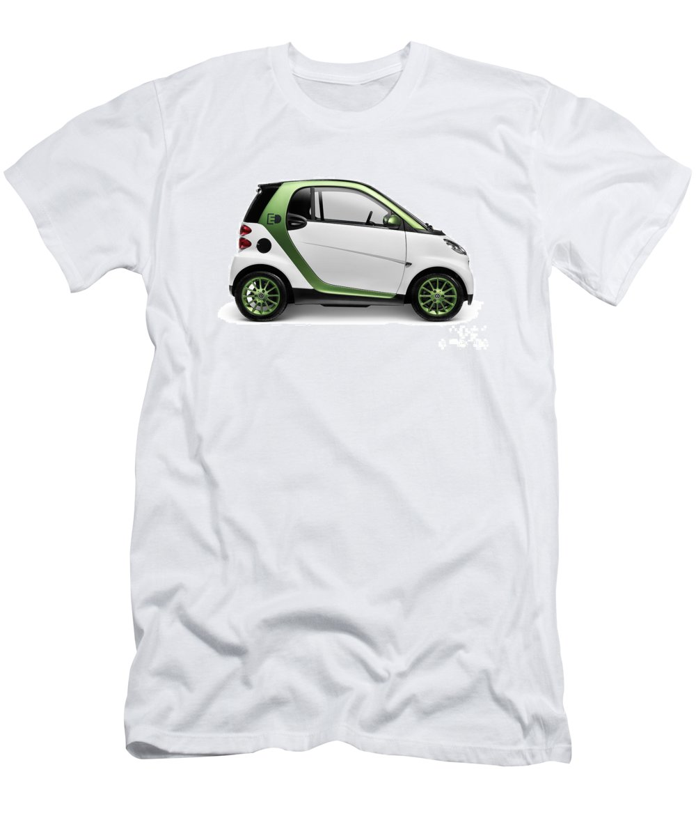 Smart Men's T-Shirt (Athletic Fit) featuring the photograph Smart Fortwo Electric Drive by Oleksiy Maksymenko