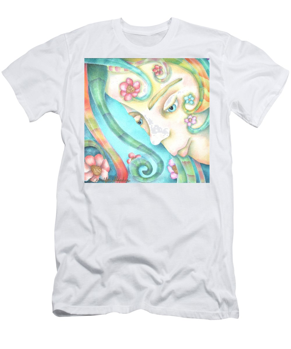 Men's T-Shirt (Athletic Fit) featuring the painting Sprite Of Giving Hearts by Jeniffer Stapher-Thomas