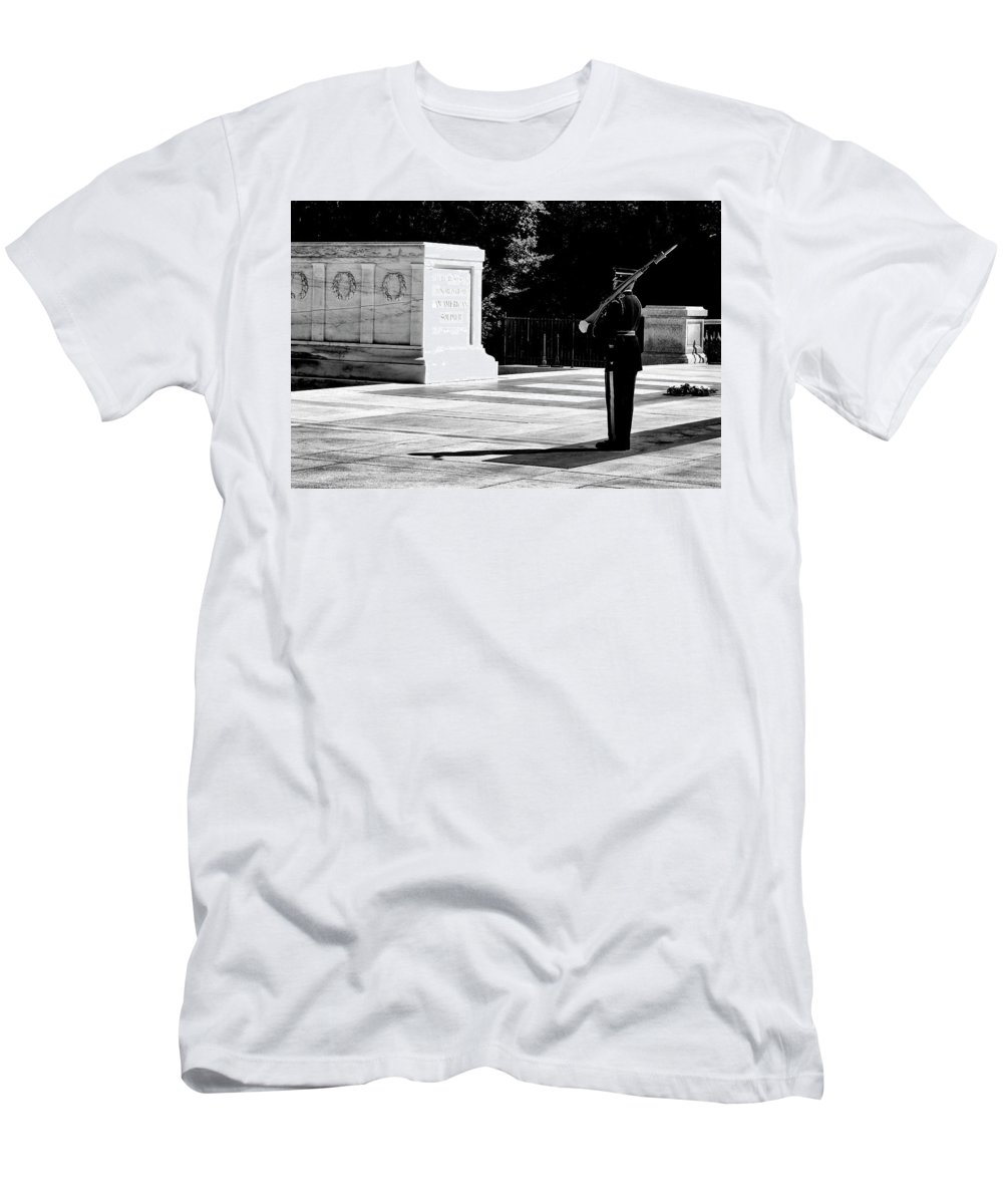 Arlington Men's T-Shirt (Athletic Fit) featuring the photograph Standing His Post by Paul W Faust - Impressions of Light