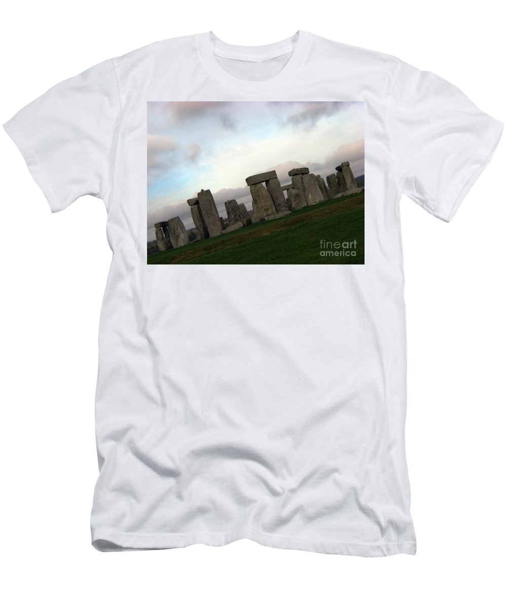 Stonehenge Men's T-Shirt (Athletic Fit) featuring the photograph Stonehenge by Amanda Barcon
