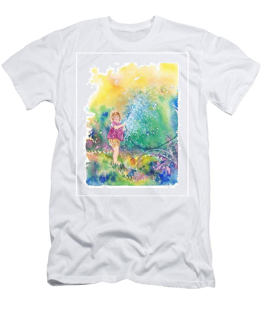 Children Men's T-Shirt (Athletic Fit) featuring the painting Summer Fun by Gale Cochran-Smith