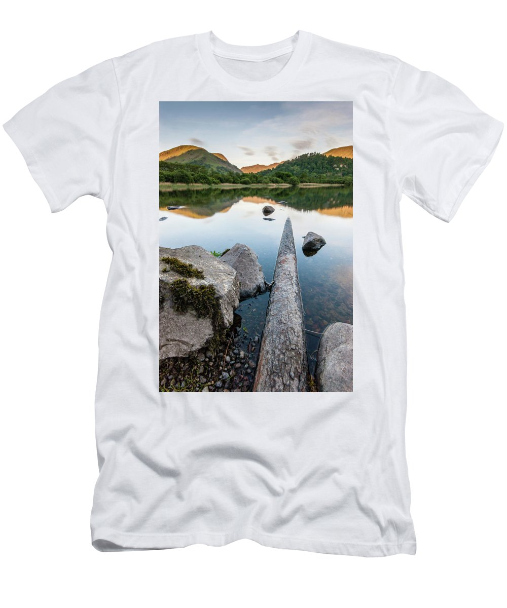 Landscape T-Shirt featuring the photograph Sunrise at Ullswater, Lake District, North West England by Anthony Lawlor