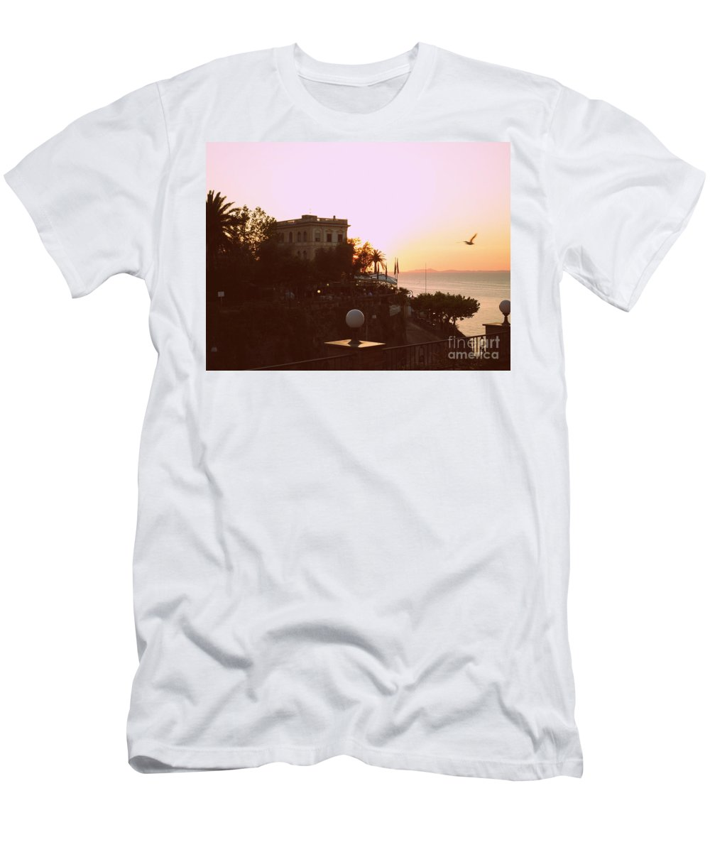 Vintage Men's T-Shirt (Athletic Fit) featuring the photograph Sunset In Sorrento by Kristie Rocca