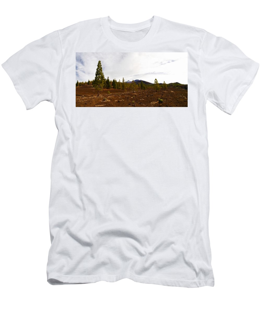 Landscape Men's T-Shirt (Athletic Fit) featuring the photograph Teide Nr 11 by Jouko Lehto