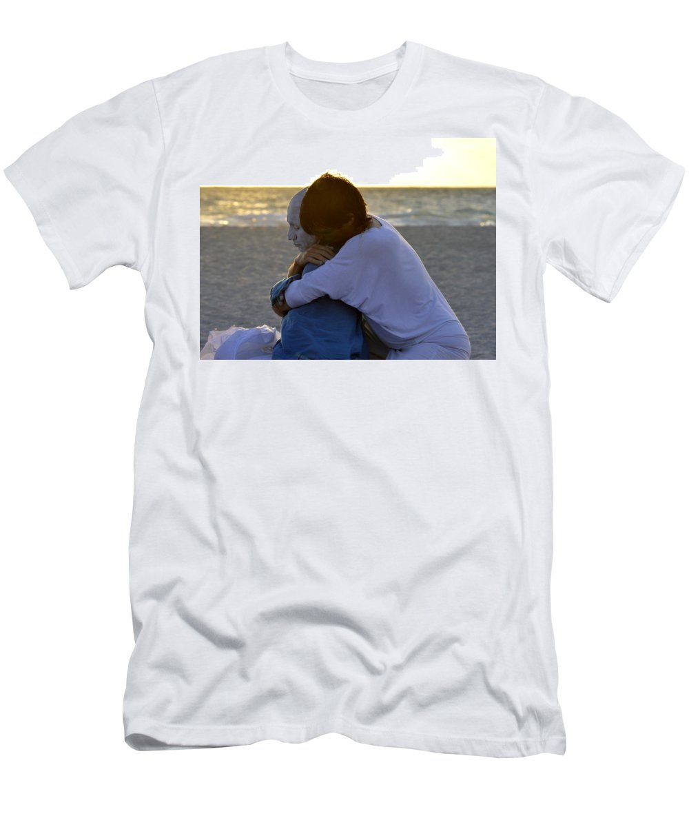 Men's T-Shirt (Athletic Fit) featuring the photograph The Embrace by Lenin Caraballo