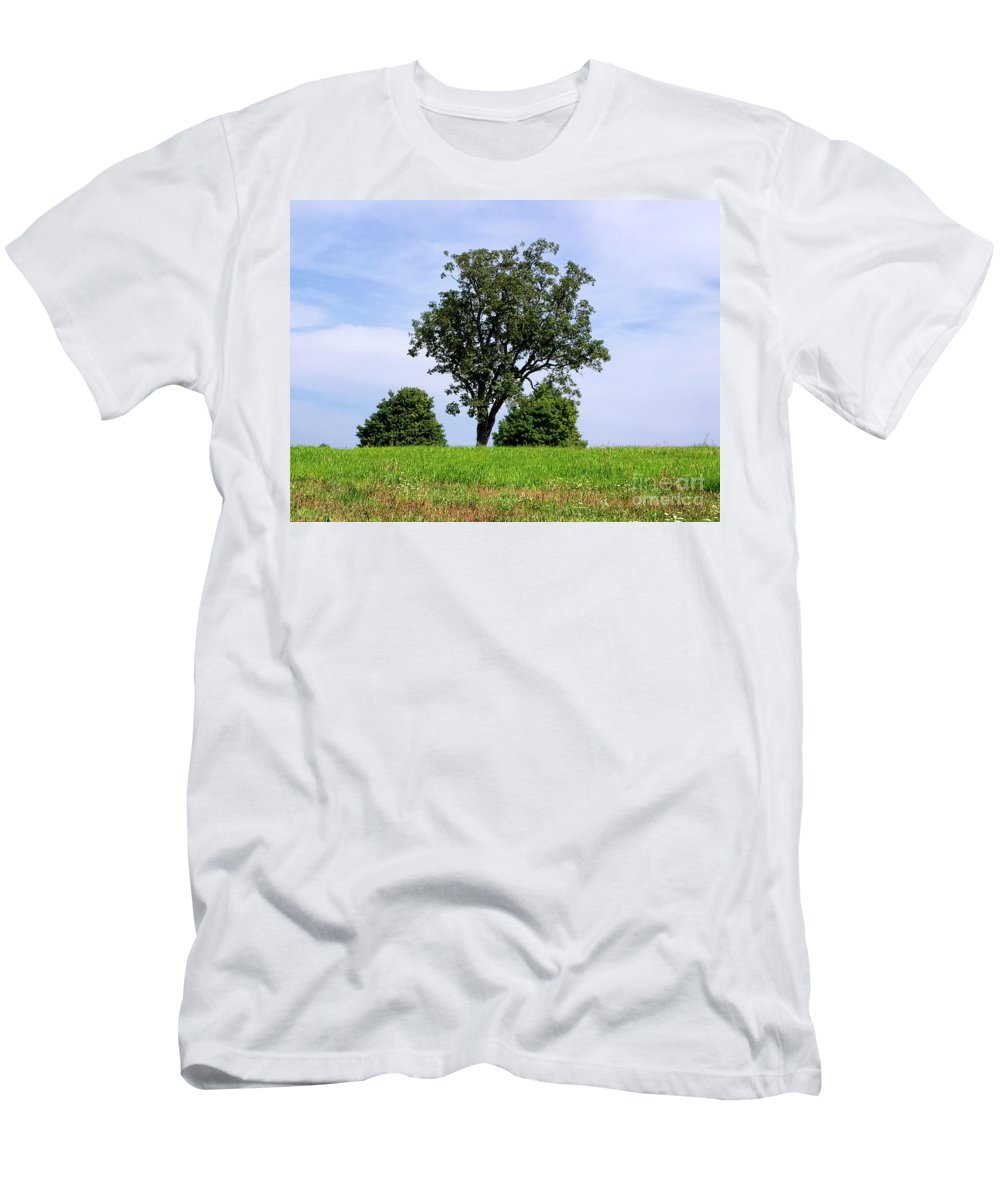 Tree Men's T-Shirt (Athletic Fit) featuring the photograph Three Tree Hill by Madeline Ellis