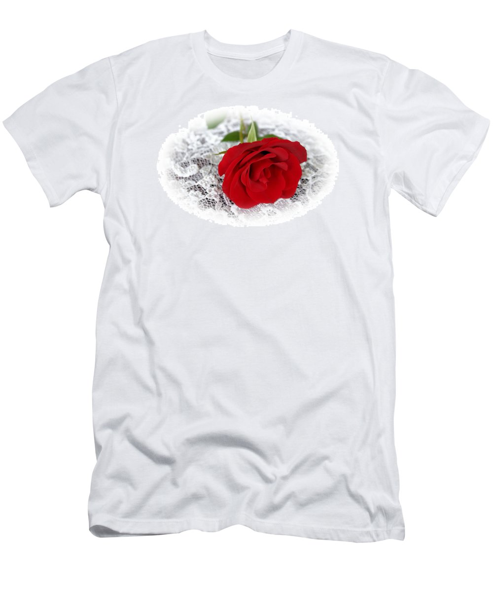 Rose Men's T-Shirt (Athletic Fit) featuring the photograph Victorian Rose by Kristin Elmquist