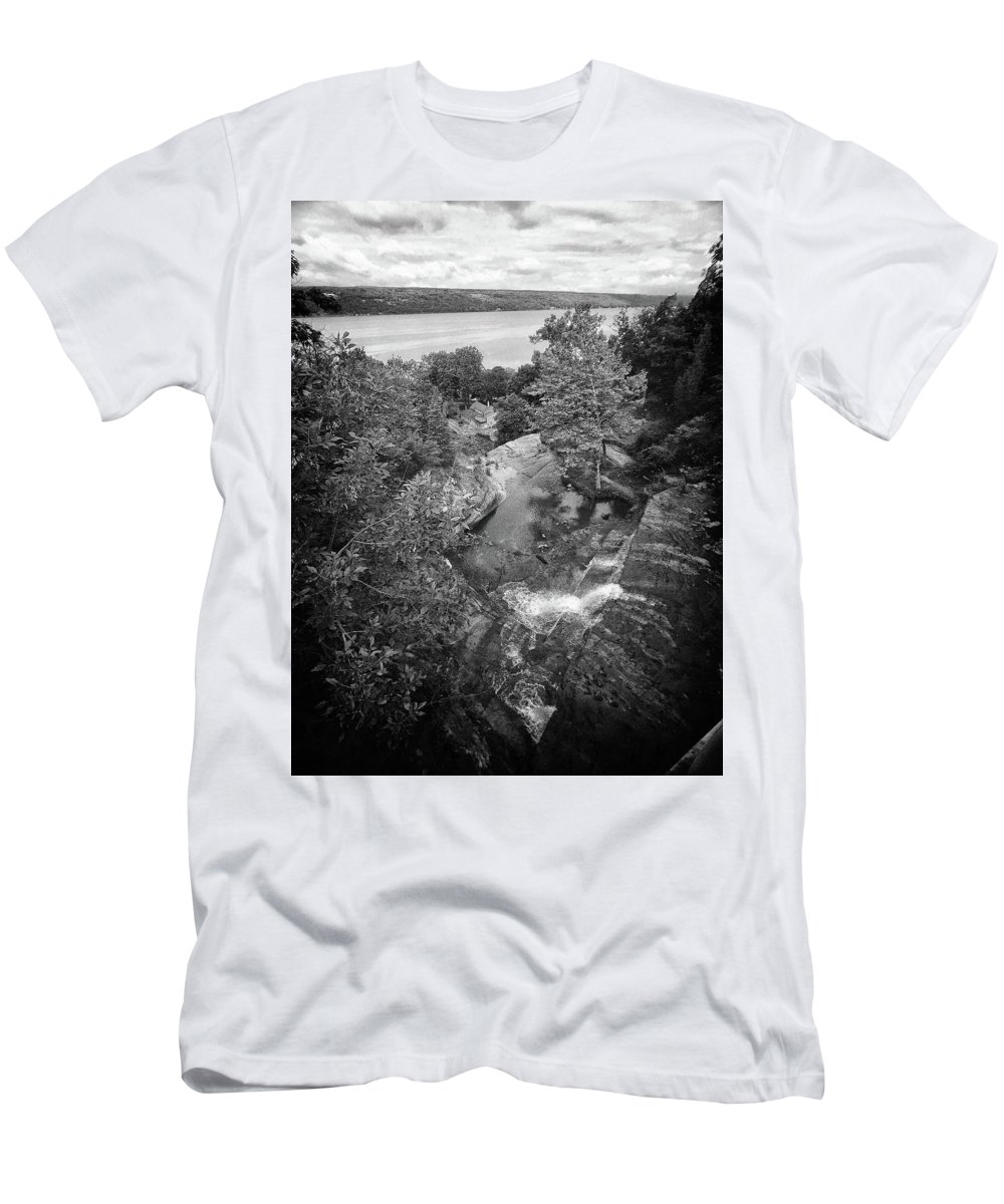 Men's T-Shirt (Athletic Fit) featuring the photograph View From The Bridge by Marvin Borst