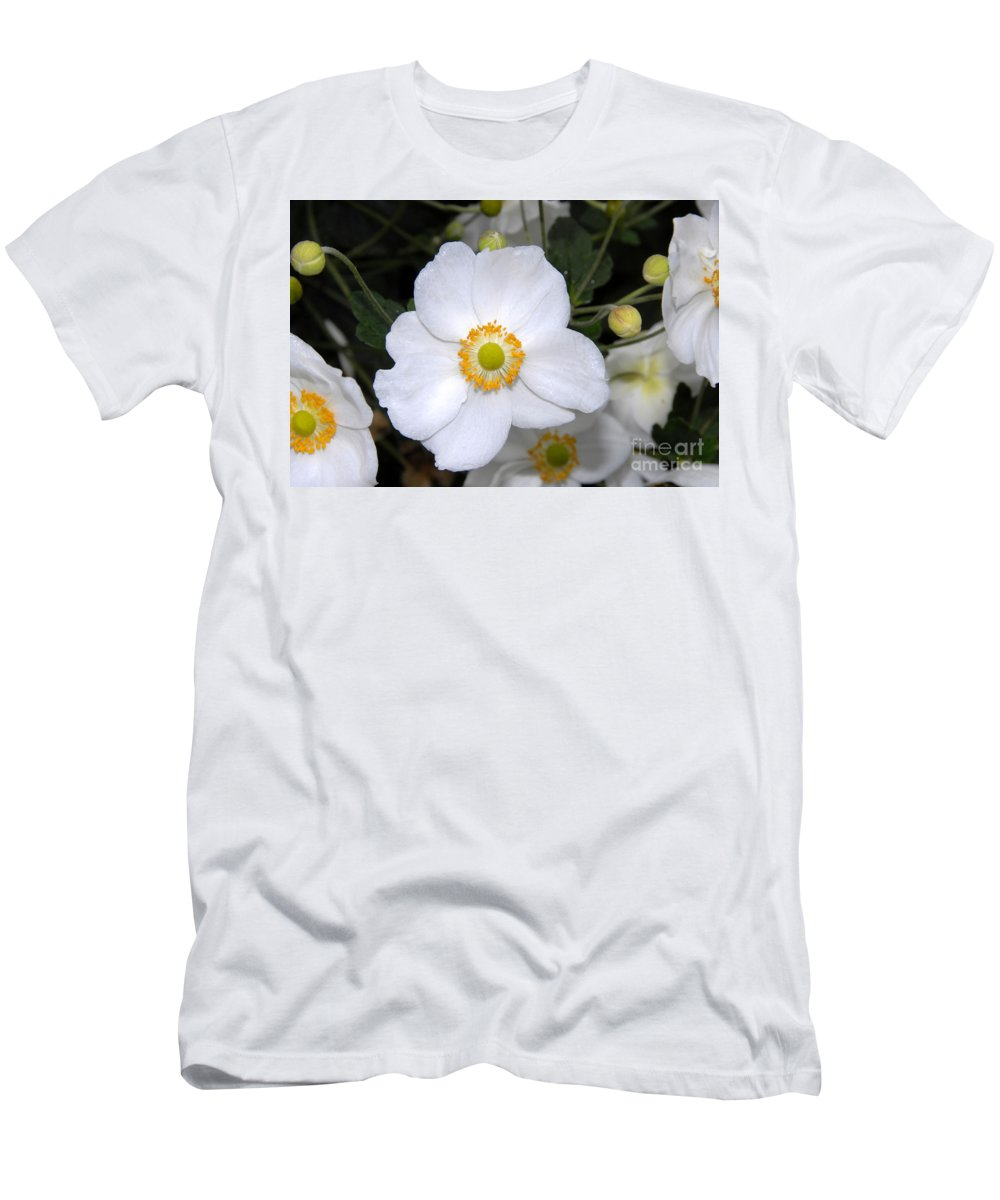 White Men's T-Shirt (Athletic Fit) featuring the photograph White Wonder by David Lee Thompson