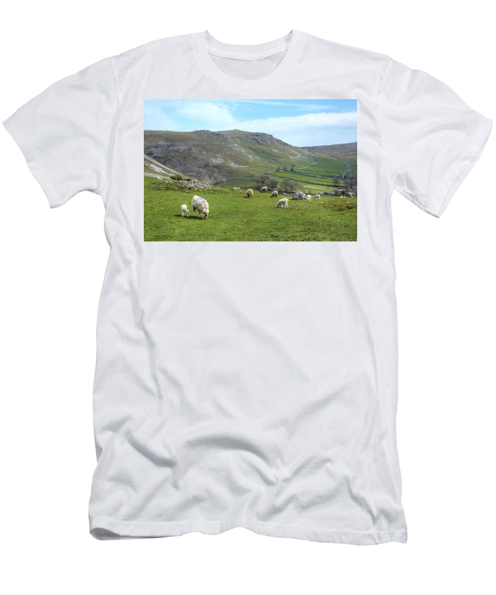 Malham Men's T-Shirt (Athletic Fit) featuring the photograph Yorkshire Dales - England by Joana Kruse