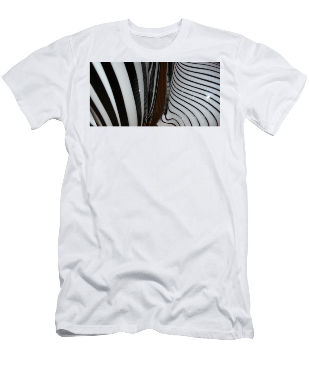 Blac Men's T-Shirt (Athletic Fit) featuring the photograph Zebra Glass by Maria Bonnier-Perez