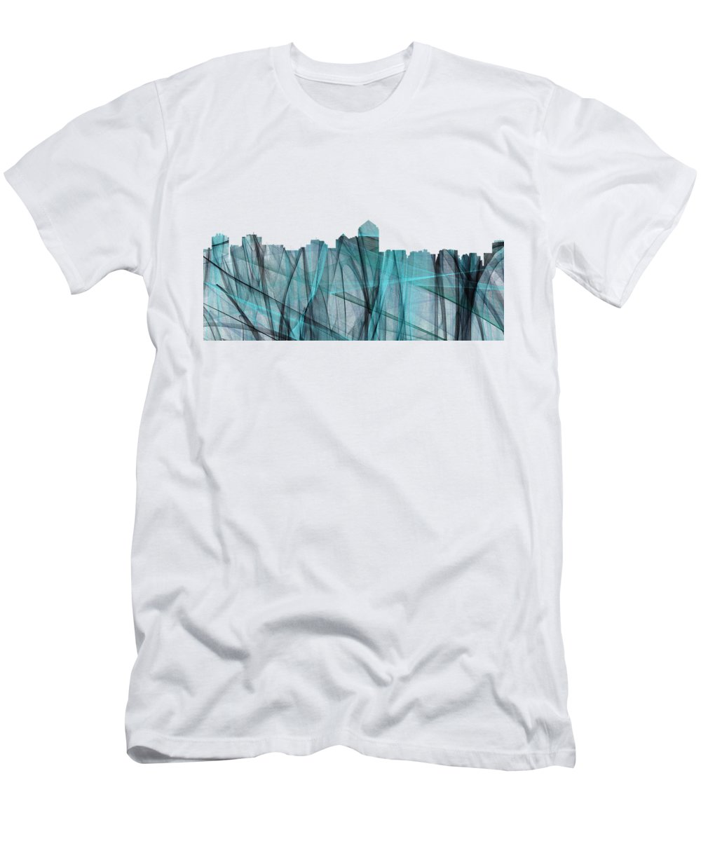 Albuquerque New Mexico Skyline Men's T-Shirt (Athletic Fit) featuring the digital art Albuquerque New Mexico Skyline by Marlene Watson