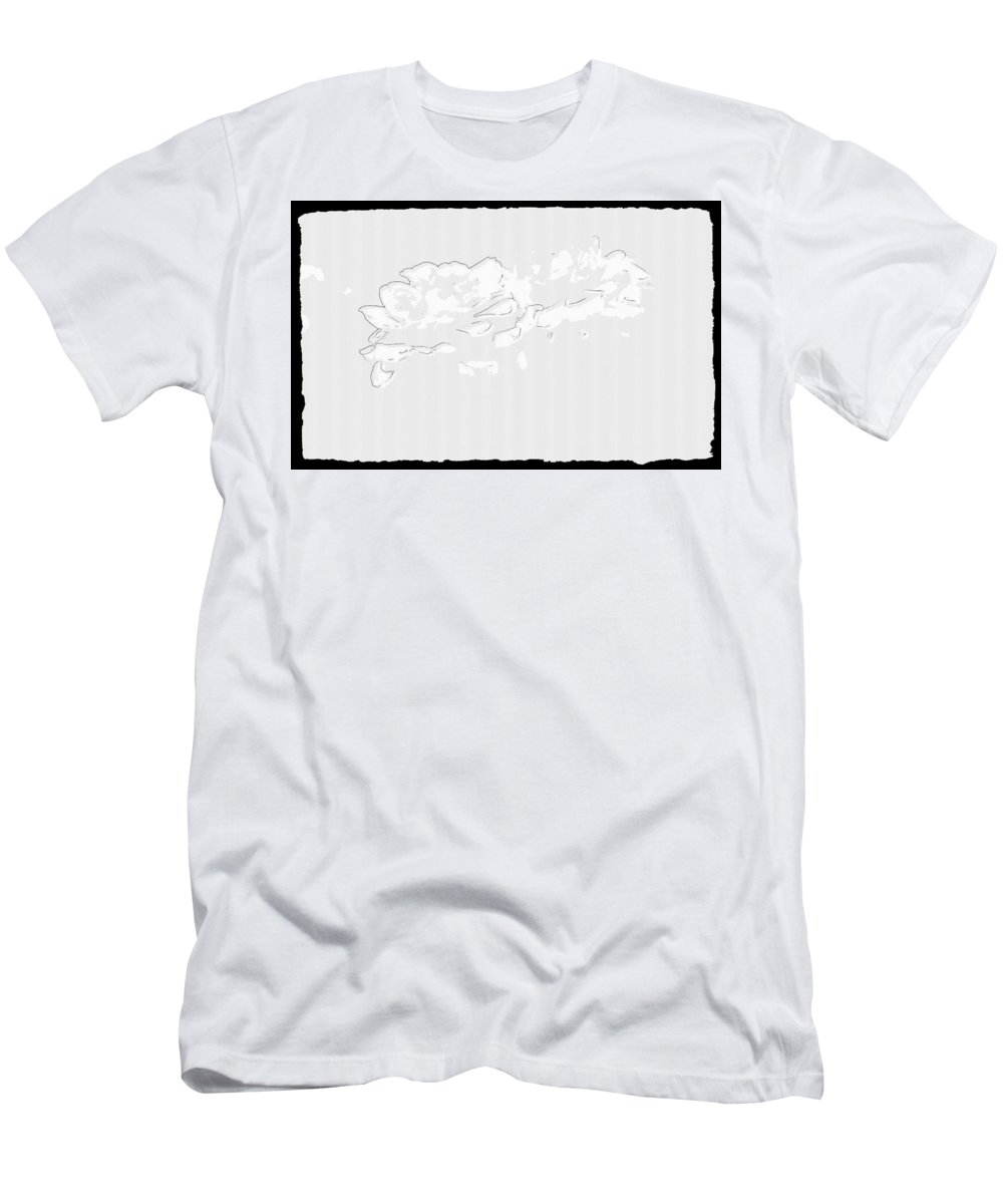 Rose Men's T-Shirt (Athletic Fit) featuring the digital art Rose by Lora Battle