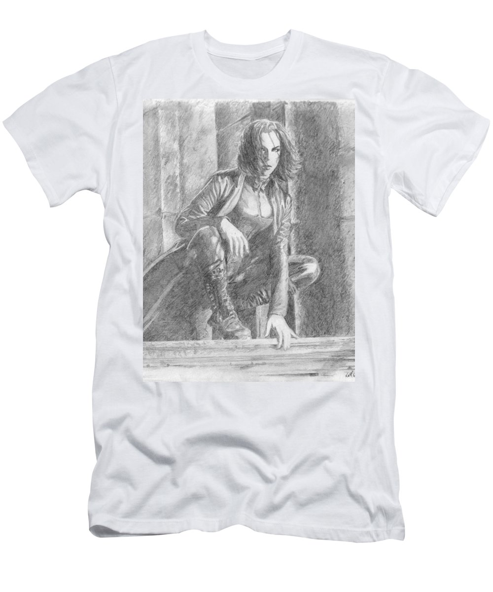 Underworld Men's T-Shirt (Athletic Fit) featuring the drawing 11 by Kristopher VonKaufman