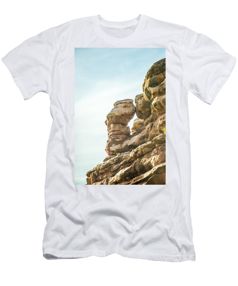 Park Men's T-Shirt (Athletic Fit) featuring the photograph Arches National Park Moab Utah Usa by Alex Grichenko