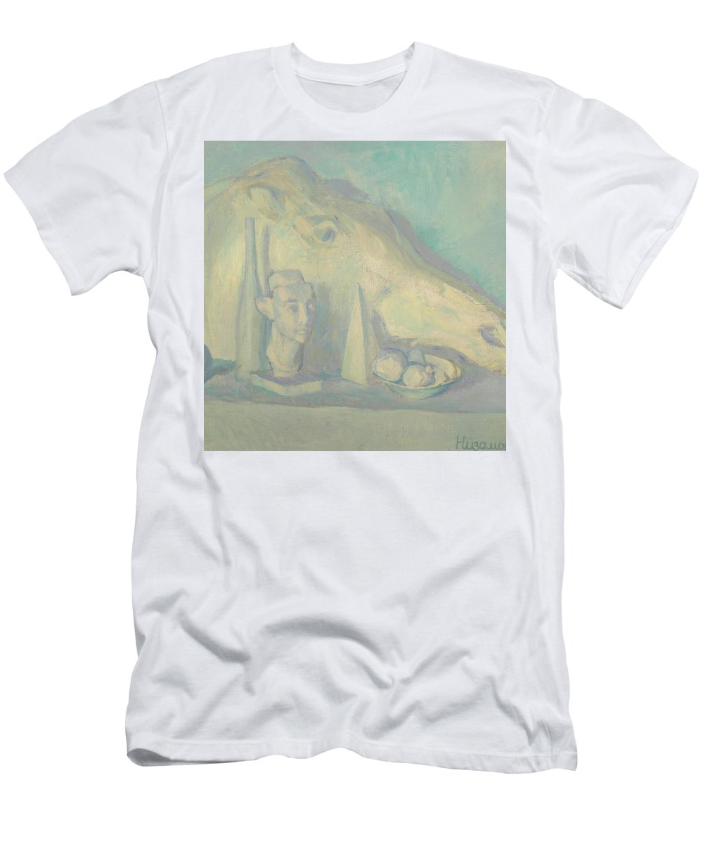 Sculpture Men's T-Shirt (Athletic Fit) featuring the painting Still Life by Robert Nizamov
