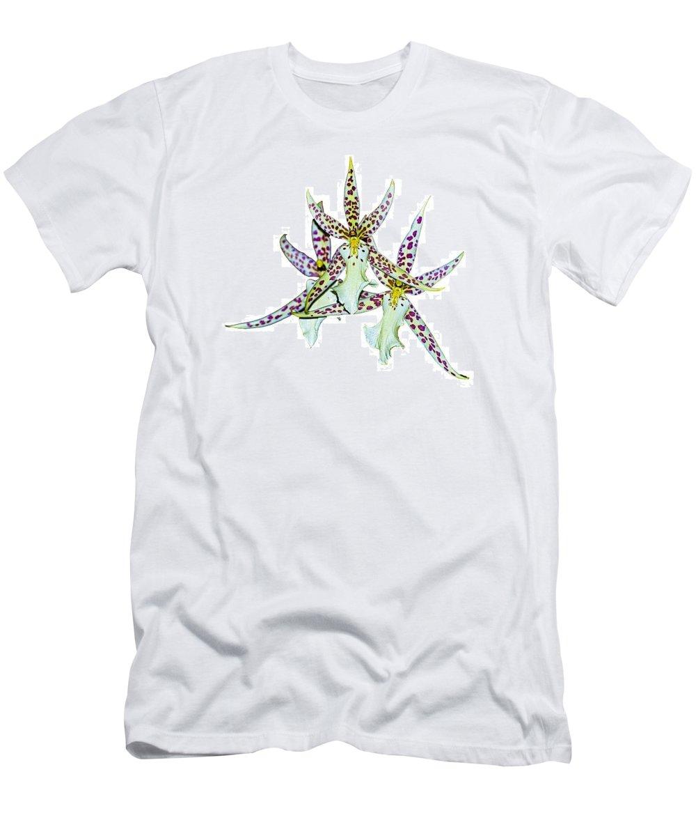Orquid Men's T-Shirt (Athletic Fit) featuring the photograph Orquid by Galeria Trompiz