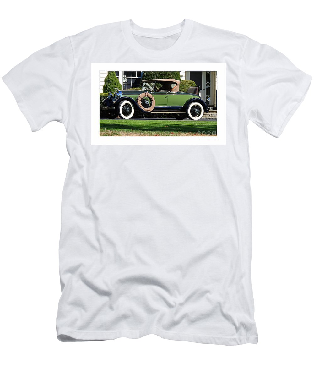 Classic Car Men's T-Shirt (Athletic Fit) featuring the photograph 1928 -1931 Roadster by Marcia Lee Jones