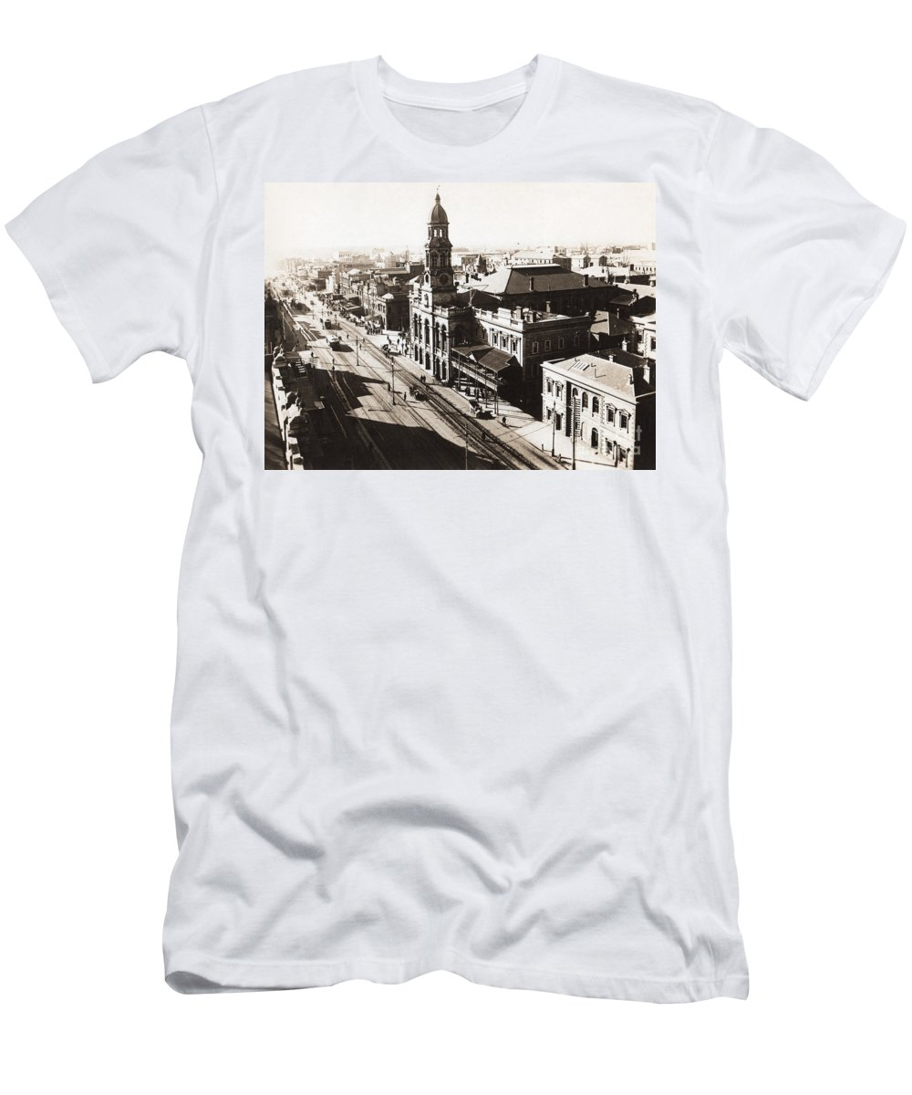 Adelaide T-Shirt featuring the photograph 1928 Vintage Adelaide City Landscape by Jorgo Photography - Wall Art Gallery