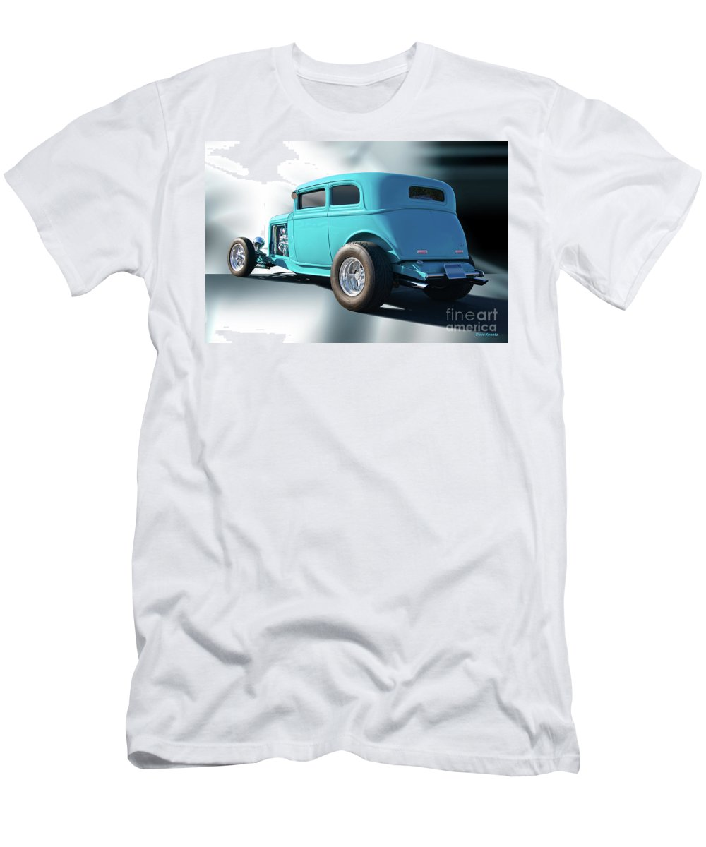 Auto Men's T-Shirt (Athletic Fit) featuring the photograph 1932 Ford Victoria 3 by Dave Koontz
