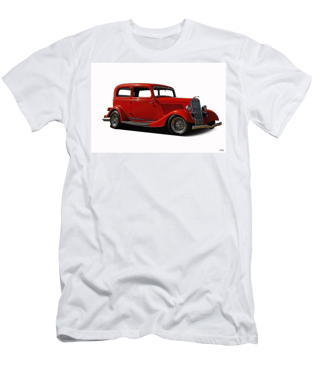 1934 Men's T-Shirt (Athletic Fit) featuring the photograph 1934 Ford 2 Door Sedan by Nick Gray