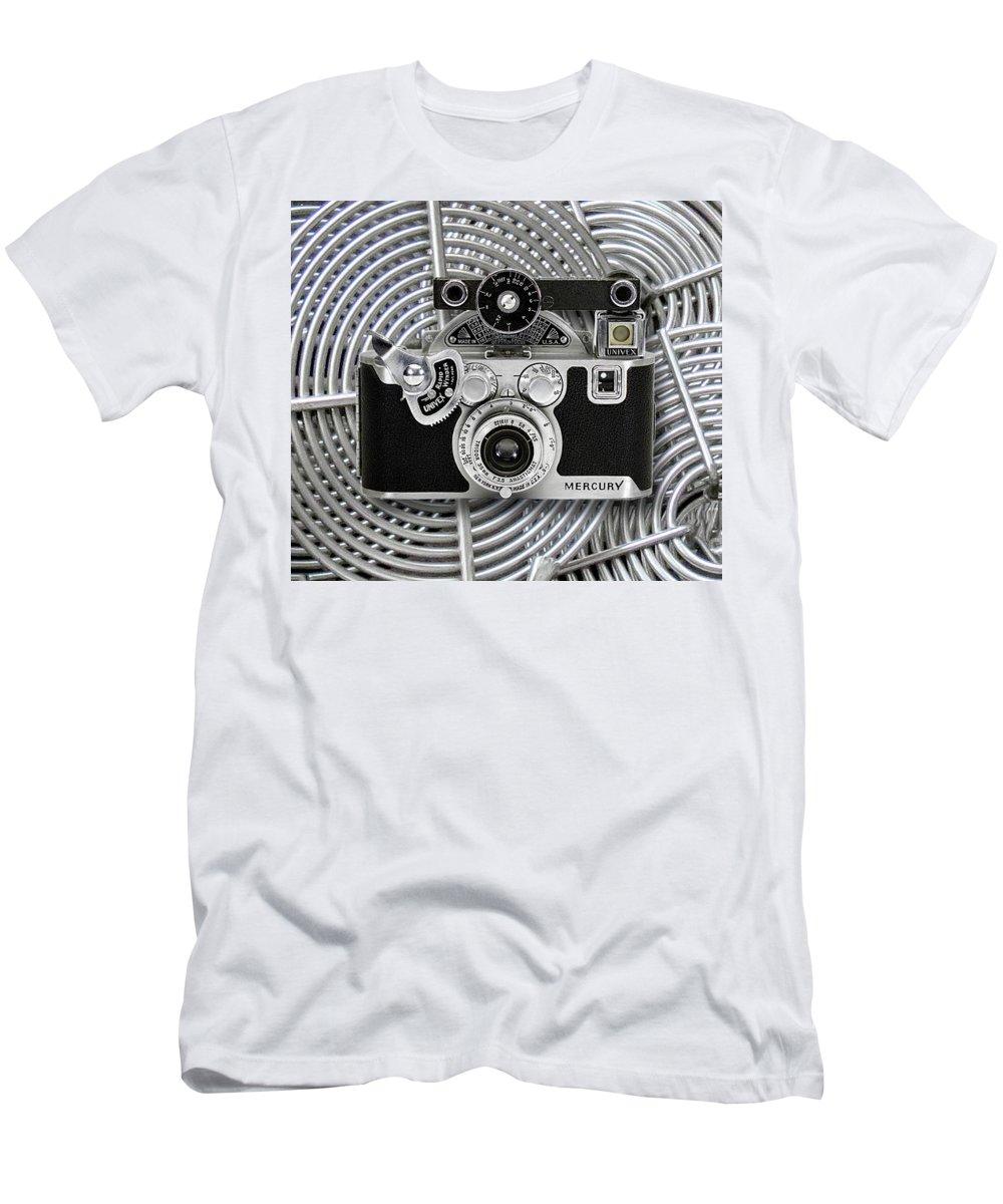 Vintage 1939 Univex Mercury Camera Men's T-Shirt (Athletic Fit) featuring the digital art 1939 Univex Mercury Camera by Chuck Brittenham