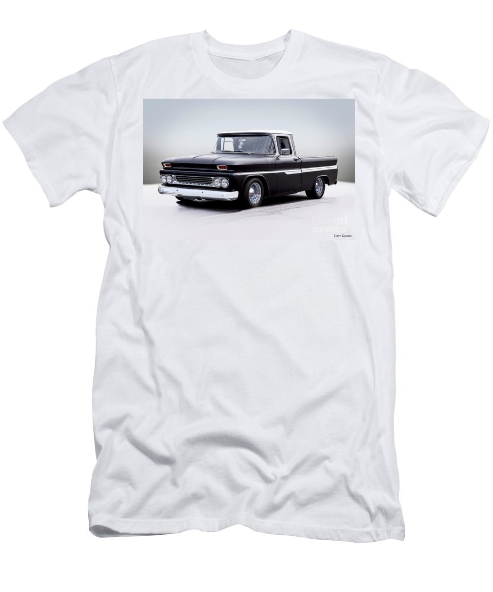 Automobile Men's T-Shirt (Athletic Fit) featuring the photograph 1962 Chevrolet Shortbed Pickup I by Dave Koontz
