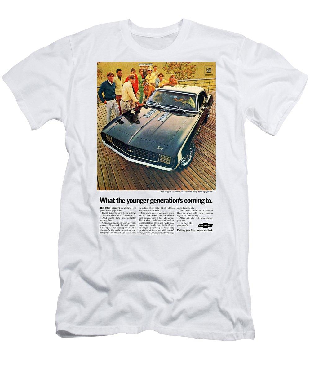 dc8f65cf 1969 Men's T-Shirt (Athletic Fit) featuring the digital art 1969 Chevrolet  Camaro