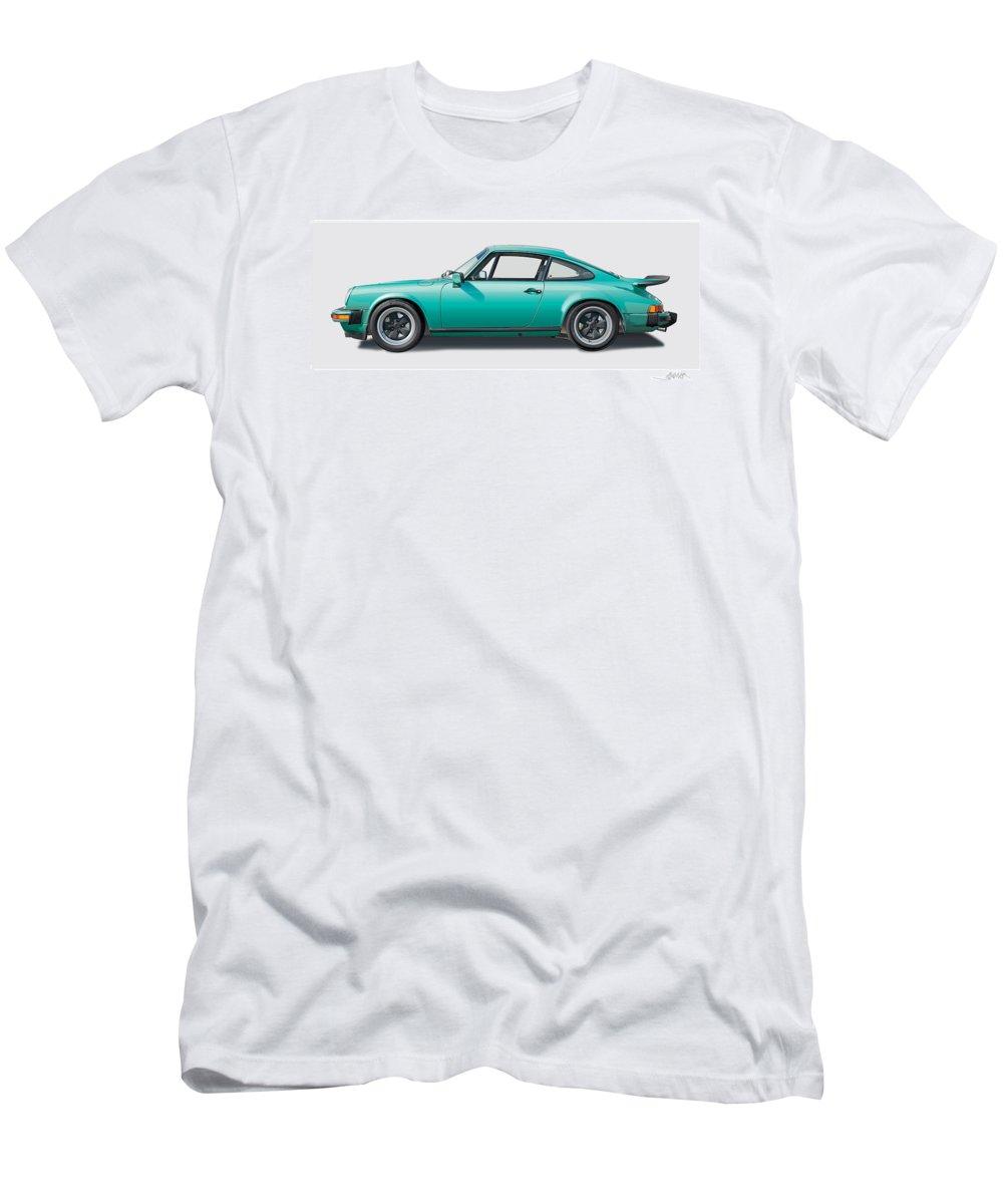 Porsche Carrera Image T-Shirt featuring the digital art 1976 Porsche Euro Carrera 2.7 Illustration by Alain Jamar