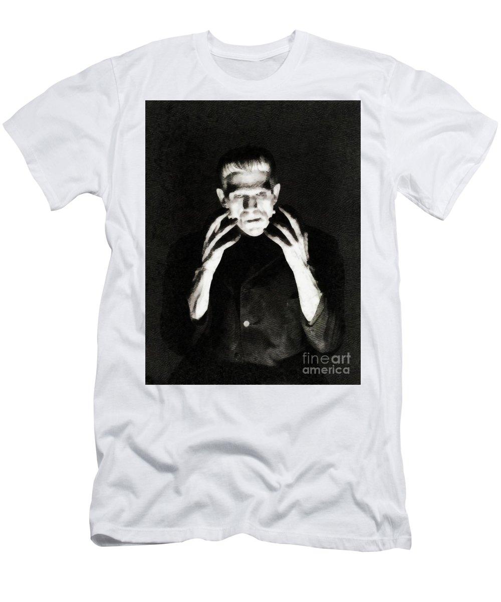 Boris Men's T-Shirt (Athletic Fit) featuring the painting Boris Karloff As Frankenstein by John Springfield