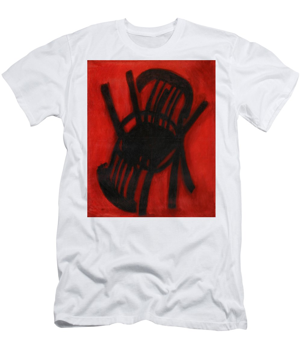 Still Life Men's T-Shirt (Athletic Fit) featuring the painting Chair by Robert Nizamov