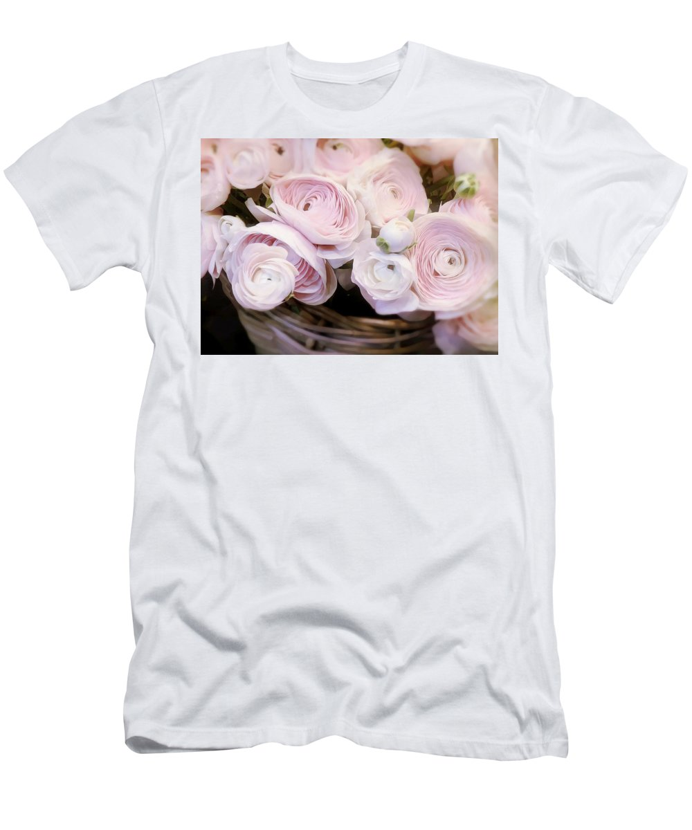 Flower Men's T-Shirt (Athletic Fit) featuring the digital art Flower With Painting. by Divine Kanza