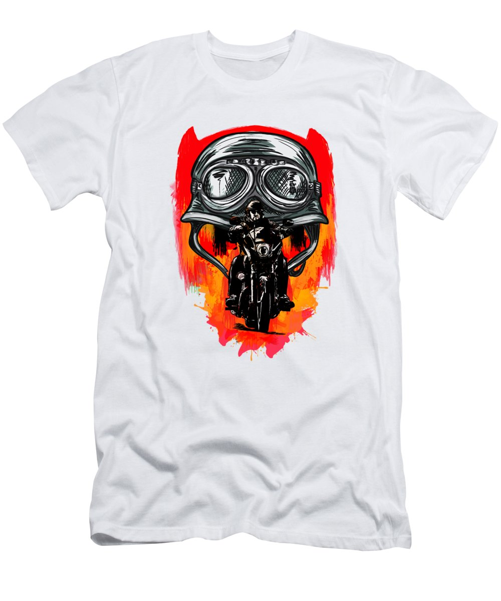 Motor Men's T-Shirt (Athletic Fit) featuring the painting Freedom by Andrzej Szczerski