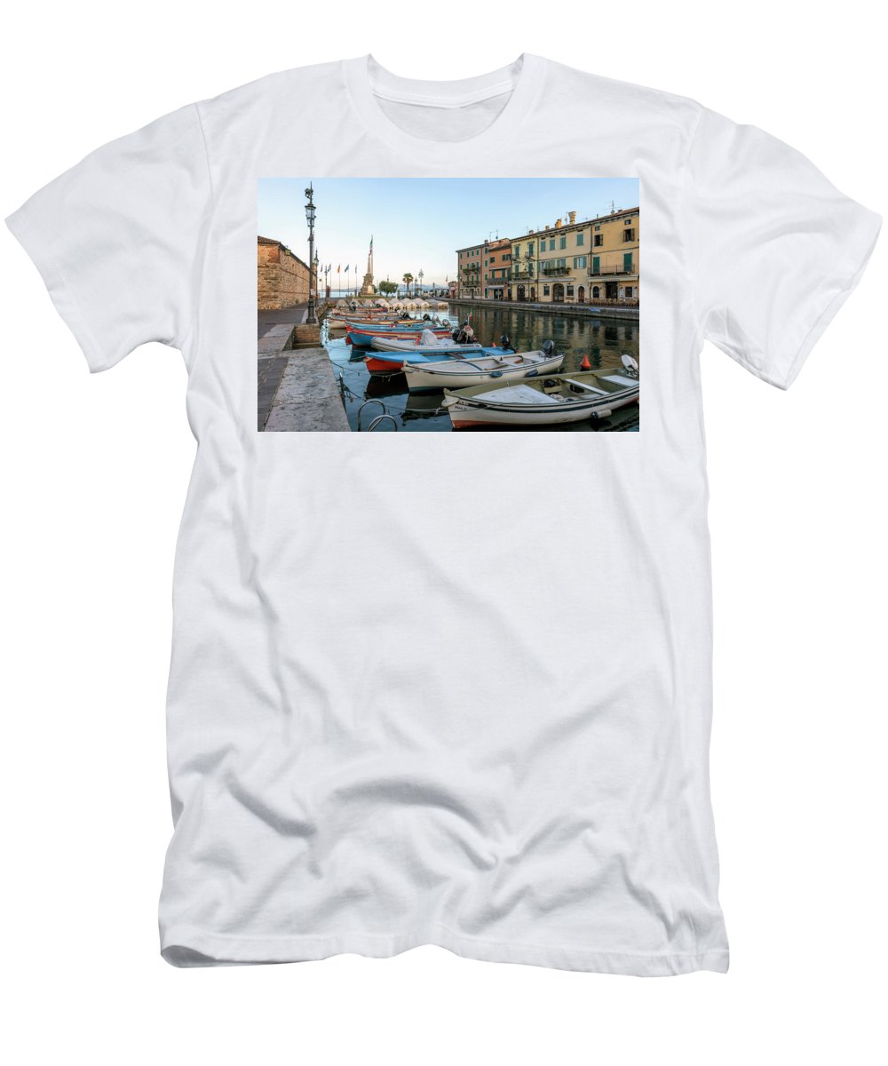 Lazise Men's T-Shirt (Athletic Fit) featuring the photograph Lazise - Italy by Joana Kruse
