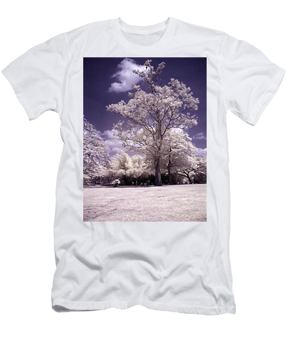 Infrared Men's T-Shirt (Athletic Fit) featuring the photograph Magic Garden by Galeria Trompiz