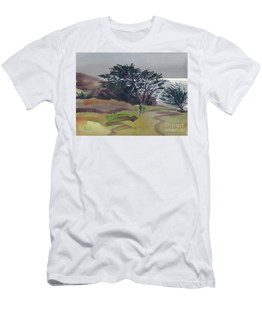 Plein Air Men's T-Shirt (Athletic Fit) featuring the painting Miramonte Point 1 by Donald Maier