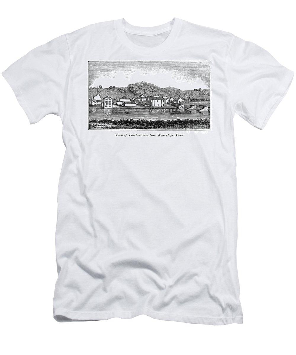 1844 Men's T-Shirt (Athletic Fit) featuring the photograph New Jersey, 1844 by Granger