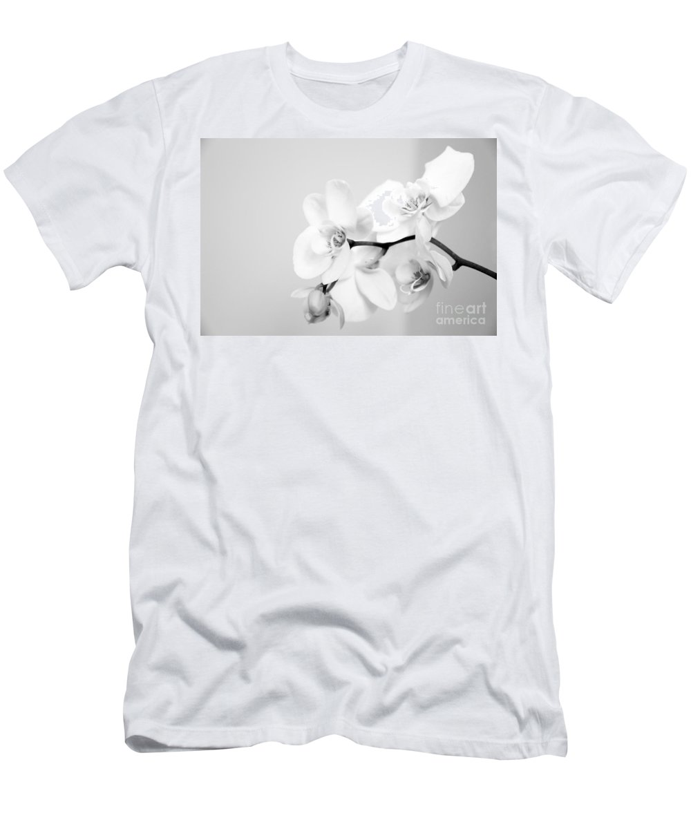 Orchid Men's T-Shirt (Athletic Fit) featuring the photograph Orchid by Amanda Barcon