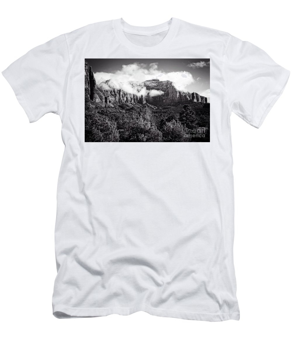 Sedona Men's T-Shirt (Athletic Fit) featuring the photograph Rising Clouds by Scott Kemper