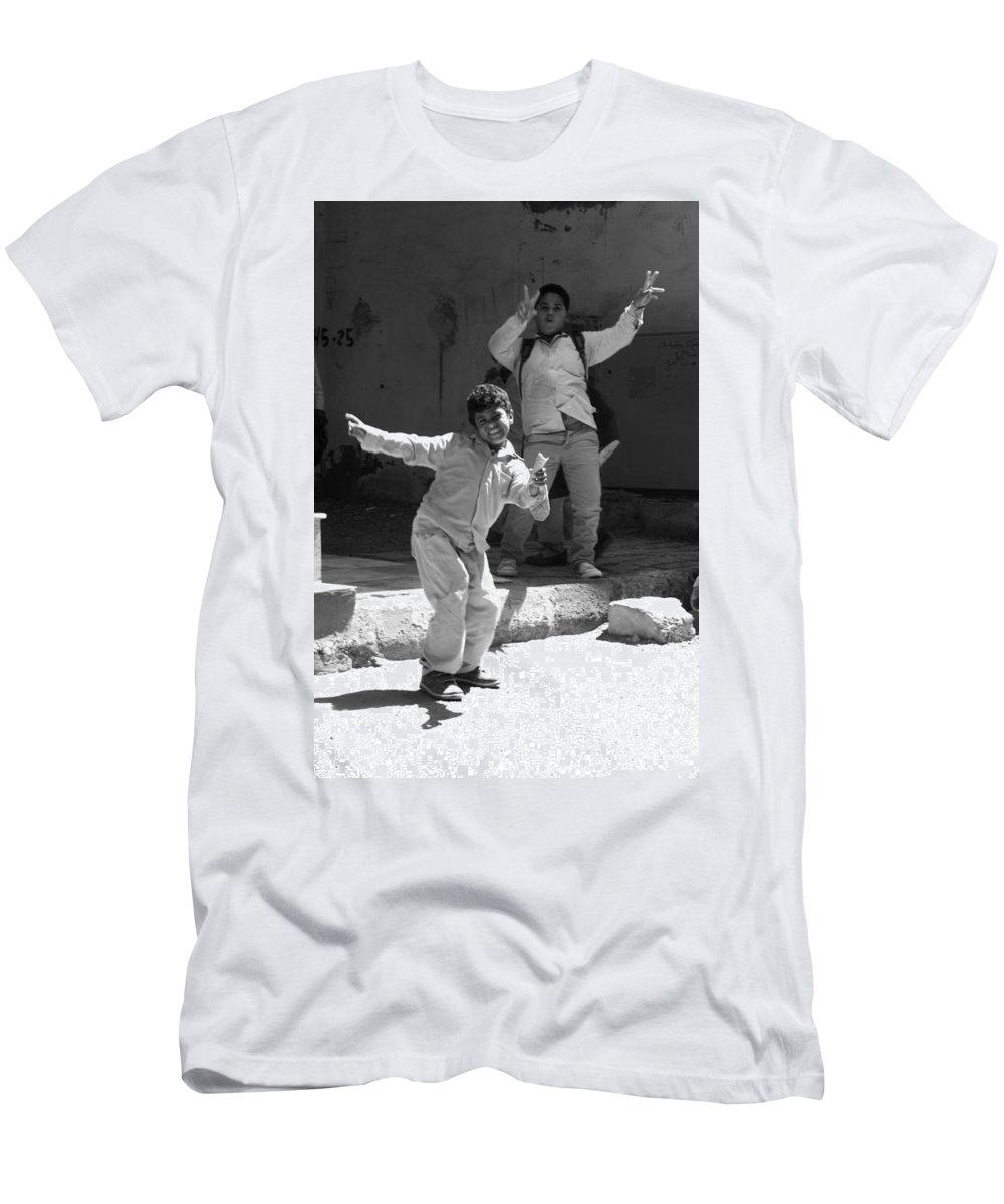 Jezcself Men's T-Shirt (Athletic Fit) featuring the photograph Schools Out by Jez C Self