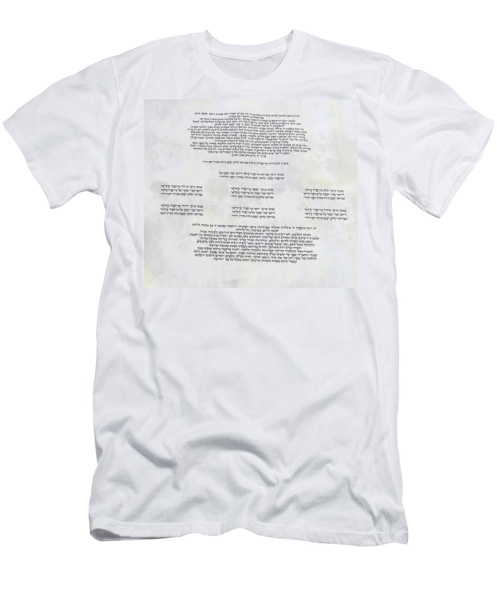 Ushpizin Prayer Men's T-Shirt (Athletic Fit) featuring the digital art Sukkot-ushpizin Prayer- The Hosts... by Sandrine Kespi